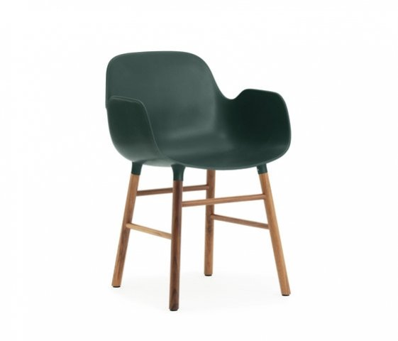 Form armchair wood legs