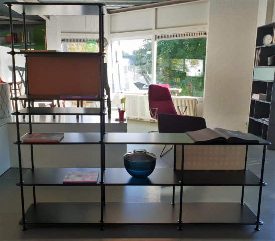 Free Shelving System in onze showroom