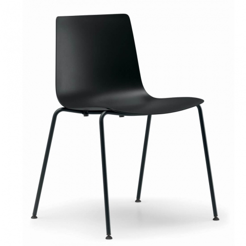 Slim chair slede/4-poot